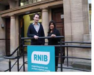 Outside RNIB Judd Street